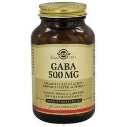 Solgar GABA 500 MG 100 Vegetarian Capsules