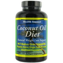 Health Support Coconut Oil Diet 180 Softgels