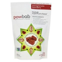 Powbab Superfruit Chews Pomegranate Acai Berry 30 Chews
