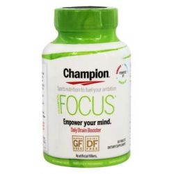 Champion Naturals Focus Daily Brain Booster 60 Tablets