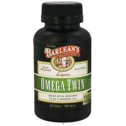 Barlean's Lignan Omega Twin 1000 MG 60 Softgels