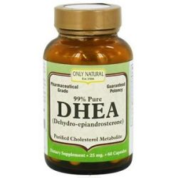 Only Natural DHEA 99 Pure 25 MG 60 Capsules