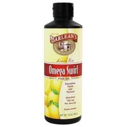 Barlean's Omega Swirl Omega 3 Fish Oil Lemon Zest 16 Oz