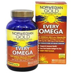 Renew Life Norwegian Gold Every Omega Natural Orange 30 Softgels