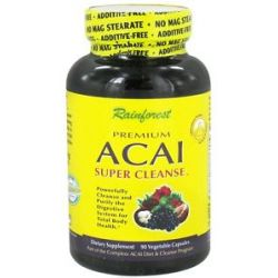 Rainforest Premium Acai Super Cleanse 90 Vegetarian Capsules