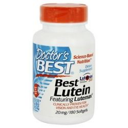Doctor's Best Best Lutein Featuring Lutemax 20 MG 180 Softgels
