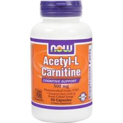 Now Foods Acetyl L Carnitine 500 MG 50 Vegetarian Capsules