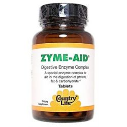 Country Life Zyme Aid Digestive Enzyme Complex 100 Tablets