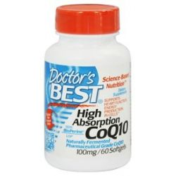 Doctor's Best High Absorption CoQ10 100 MG 60 Softgels