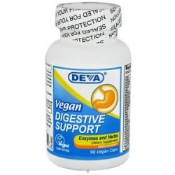 Deva Nutrition Vegan Digestive Support Enzymes and Herbs High Potency 90