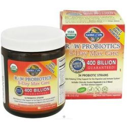 Garden of Life Raw Probiotics 5 Day Max Care 34 Probiotic Strains 2 4 Oz