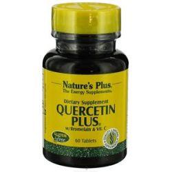 Nature's Plus Quercetin Plus with Vitamin C Bromelain 60 Capsules