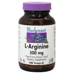 Bluebonnet Nutrition L Arginine 500 MG 100 Vegetarian Capsules