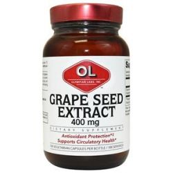 Olympian Labs Grape Seed Extract 400 MG 100 Vegetarian Capsules