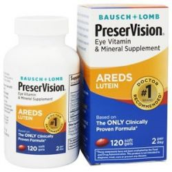 Bausch Lomb Preservision Areds Formula with Lutein 120 Softgels 324208632109