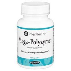 Interplexus Mega Polyzyme Full Spectrum Digestive Enzymes 60 Vegetarian