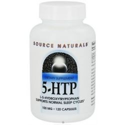 Source Naturals 5 HTP L 5 Hydroxytryptophan 100 MG 120 Capsules