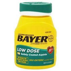 Bayer Healthcare Bayer Low Dose Safety Coated Aspirin 81 MG 300