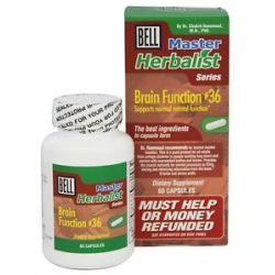 Bell Lifestyle Master Herbalist Series 36 Brain Function 60 Capsules