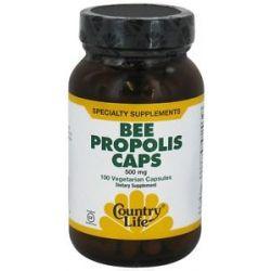 Country Life Bee Propolis Caps 500 MG 100 Vegetarian Capsules