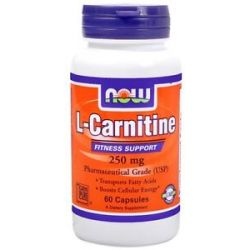 Now Foods L Carnitine Pharmaceutical Grade 250 MG 60 Capsules