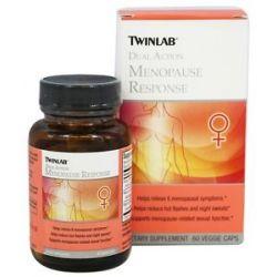 Twinlab Dual Action Menopause Response 60 Vegetarian Capsules