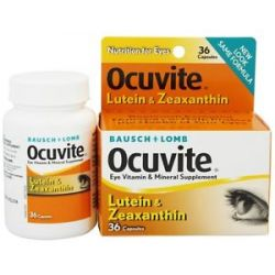 Bausch Lomb Ocuvite with Lutein and Zeaxanthin 36 Capsules