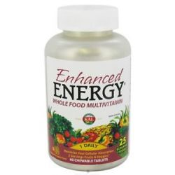 Kal Enhanced Energy Whole Food Multivitamin Mango Pineapple Flavor 60 021245551195