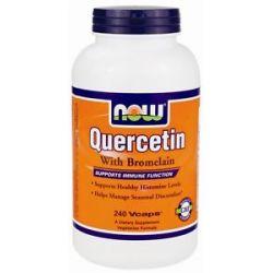 Now Foods Quercetin with Bromelain 240 Vegetarian Capsules