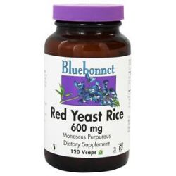 Bluebonnet Nutrition Red Yeast Rice 600 MG 120 Vegetarian Capsules