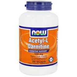 Now Foods Acetyl L Carnitine 500 MG 200 Vegetarian Capsules