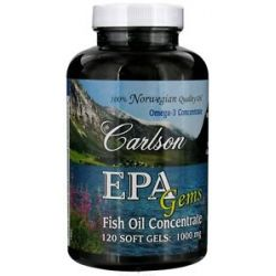 Carlson Labs Norwegian EPA Gems Omega 3 Concentrate Fish Oil Concentrate 1000