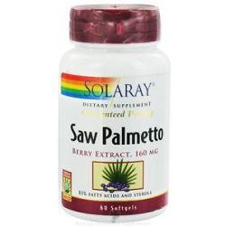 Solaray Guaranteed Potency Saw Palmetto Berry Extract 160 MG 60 Softgels
