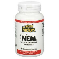 Natural Factors NEM Natural Eggshell Membrane 500 MG 60 Vegetarian Capsules