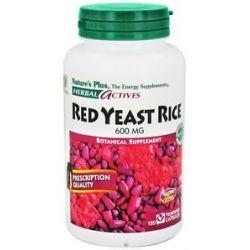 Nature's Plus Herbal Actives Red Yeast Rice 600 MG 120 Vegetarian Capsules