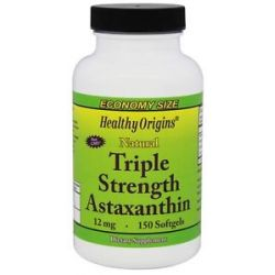 Healthy Origins Natural Triple Strength Astaxanthin 12 MG 150 Softgels