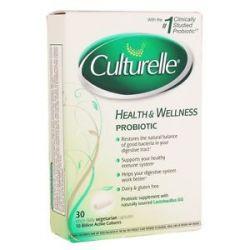 Culturelle Probiotic Health Wellness Vegetarian 30 Vegetarian Capsules