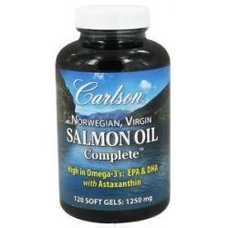 Carlson Labs Norwegian Virgin Salmon Oil Complete 1250 MG 120 Softgels
