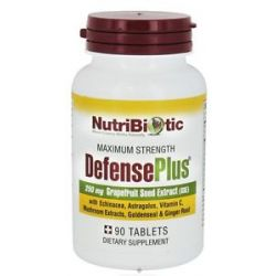 Nutribiotic Maximum Strength Defense Plus 250 MG 90 Vegetarian Tablets 728177010157