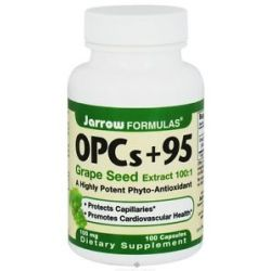 JARROW Formulas Opcs 95 Grape Seed Extract 100 1 100 MG 100 Capsules