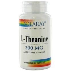 Solaray L Theanine Anti Stress Formula 200 MG 90 Vegetarian Capsules
