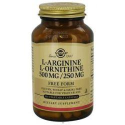 Solgar L Arginine L Ornithine Free Form 500 MG 250 MG 100 Vegetarian