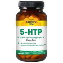 Country Life 5 HTP 5 Hydroxytryptophan 50 MG 50 Vegetarian Capsules