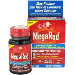 Schiff Mega Red Extra Strength 100 Pure Omega 3 Krill Oil 500 MG 45 020525104519