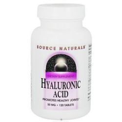 Source Naturals Hyaluronic Acid from Bio Cell Collagen II 50 MG 120 Tablets