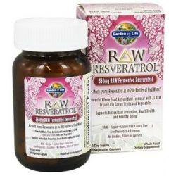 Garden of Life Raw Resveratrol Raw Fermented Resveratrol 350 MG 60 Capsules