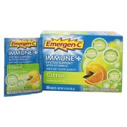 Alacer Emergen C Immune Plus System Support with Vitamin D Citrus 30 Packet 885898000055