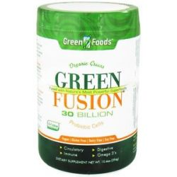 Green Foods Green Fusion Organic Greens 30 Billion Probiotic Cells 10 4 Oz