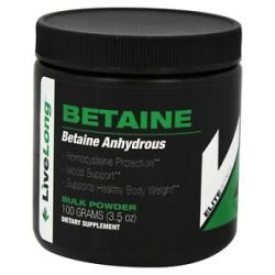 Livelong Nutrition Betaine Anhydrous Bulk Powder 3 5 Oz
