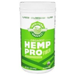 Manitoba Harvest Organic Hemp Protein with Fiber 1 Lb